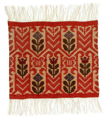 A small Swedish textile panel Handmade Early - mid 20th century Scandinavia