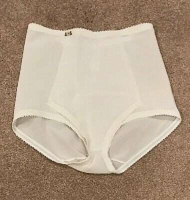 Vintage Olga Limited Edition Brief Panty Shaper w/ Panel Style 646 White Sz S