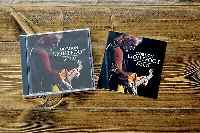 Gordon Lightfoot Solo Cd With Bonus Signed Liner Autograph Brand New!