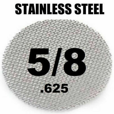 "100 Piece Silver Screens 5/8"" 0.625"" Stainless Steel Tobacco Smoking Pipe Screen"
