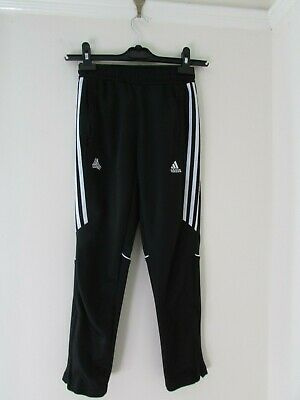 (C2635) Boys Adidas Climacool Tracksuit trousers bottoms Age 9-10 Years Black