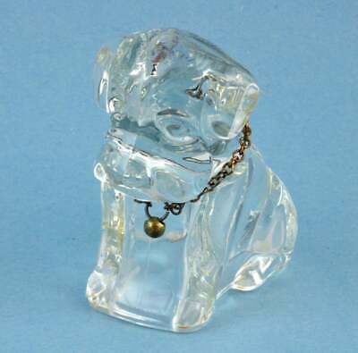 Glass Paperweight or Candy Container - Federal Glass Mopey / Sad Dog