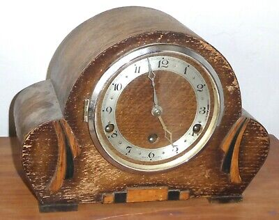 Vintage Perivale art deco Westminster chime mantel clock, in need of restoring