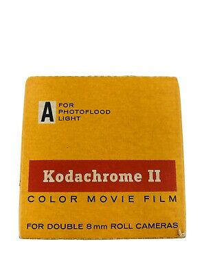 Vintage Kodachrome II Color Movie Film For Double 8mm Roll Cameras
