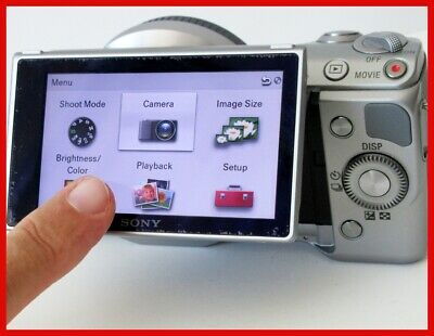Sony α (alpha) NEX-5N 16.1 MP Digital Camera Touch Screen LOW SHUTTER COUNT #062