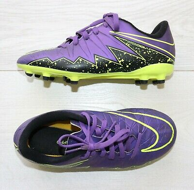 Nike Hypervenom Childrens Purple Football Boots Trainers Moulded studs size Uk 2
