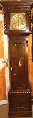 "Antique Carved Oak Case  "" Gloucester ""  Longcase / Grandfather  Clock"