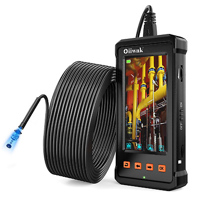 50FT Industrial Endoscope, Oiiwak Inspection Camera for Industrial Pipe Sewer HD