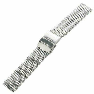18/20/22/24mm Watch Bracelet Strap Band Stainless Steel Shark Dive Mesh Top F8R8