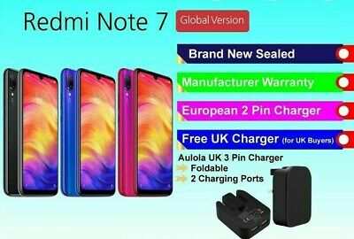 XIAOMI REDMI NOTE 7 128GB Blue BRAND NEW SEALED FACTORY UNLOCKED GLOBAL VERSION