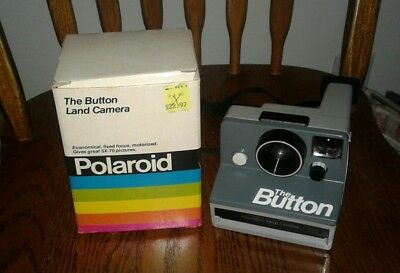 Vintage Polaroid The Button Land Camera With Box Great Shape