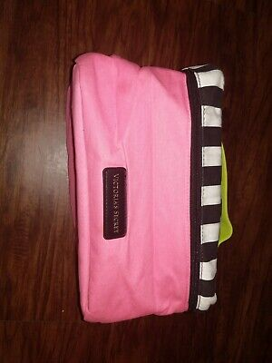 Victoria's Secret Lingerie Train Case Travel Bag Bra Panties pink /striped top