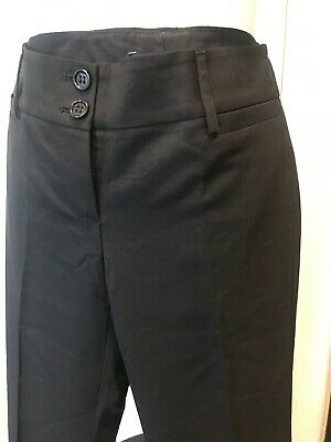 Theory Black Sz 0 Dress Flare Led Pants EUC