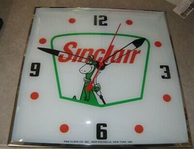New Pam Style Lighted 15' Square Clock Sinclair