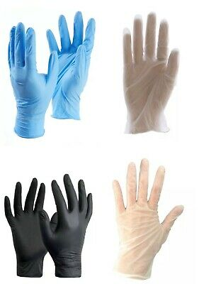 click 2000 Nitrile Latex and Vinyl disposable gloves