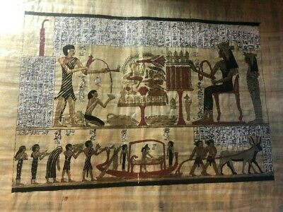 "Ancient Egyptian Papyrus Large 17""x 25""     P12"