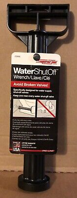 Superior Tool Water Supply Shut-Off Wrench Black