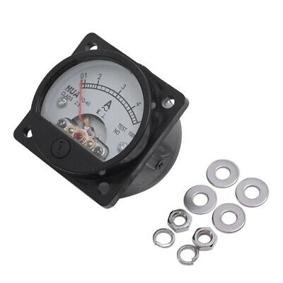 Class 2.5 Accuracy AC 0-5A Analog Panel Round Meter Ammeter Meter Black D9G2 CVB