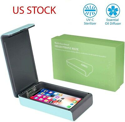 Portable UV Phone Sanitizer, Cell Phone Sterilizer Cleaner Aromatherapy Function