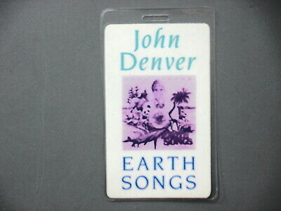 John Denver backstage pass laminated AUTHENTIC Earth Songs !
