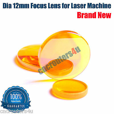 New! 1PC ZnSe Dia 12mm Focus Lens for CO2 Laser Cutting Engraving Machine FL 2''