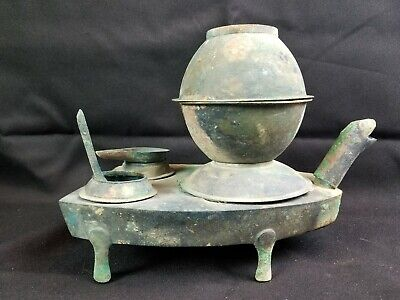 RARE Chinese Han Dynasty Bronze Turtle Censer Complete CHRISTIES Provenance