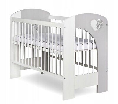 New Wooden Baby Cot Bed, 2 Designs To Choose!! Very High Quality, Heart Or Cloud