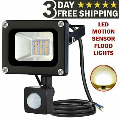 LED Floodlight Motion Sensor Security 50Watt Wall Light Outdoor PIR Flood Light