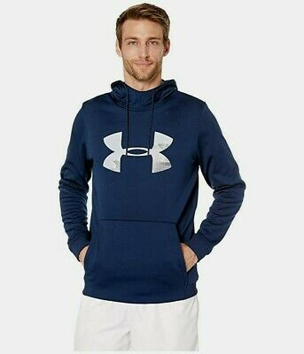 Mens Under Armour Armour Fleece Big Logo Graphic Pullover Hoodie - 2XL/XL/Large