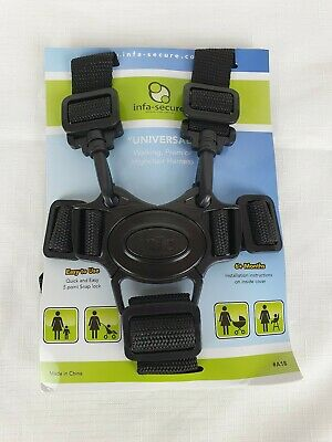 InfaSecure Universal Walking Pram Highchair Harness Waist Shoulder Straps Buckle