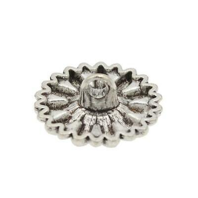 1PC Metal Sunflower Carved Antique Sewing Craft DIY Silver Buttons M0C8 Su J6Y5