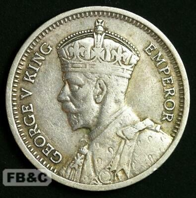 1933 New Zealand Threepence Silver Coin - KM#1 George V