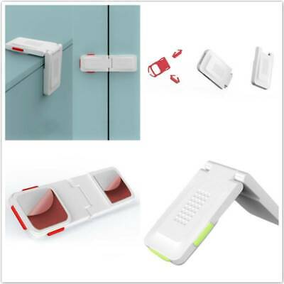 Multifunctional Kids Safety Lock Double Button Drawer Door Lock Care Strap Home