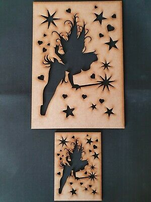 Fairy Stencil Decorative Panel Pattern Screening Grille MDF Embellishment