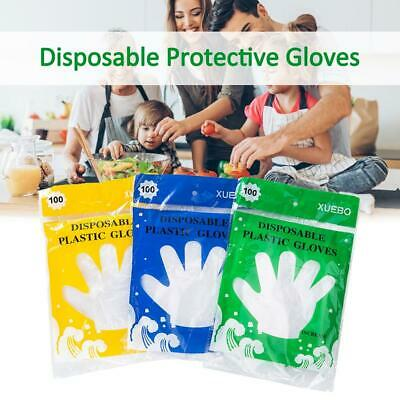 100pcs Clear Plastic Disposable Gloves Home Restaurant Service Catering Hygiene