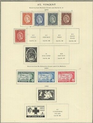 St. Vincent 1955-1977  Lot /Collection Of (64) Stamps