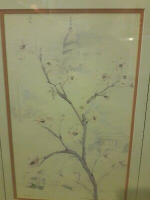 Butler Brown Signed Print Limited Edition Cherry Blossoms on The Ocmulgee River