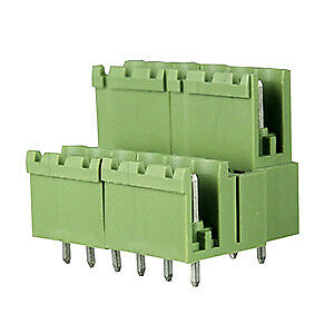 6 Position5mm terminal block header with vertical plug entry, rated 12A (50-PK)
