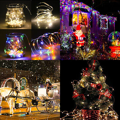 20 LED String Fairy Lights Copper Wire Battery Powered Waterproof Xmas Tree Lamp