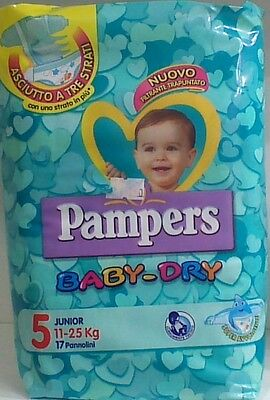 PAMPERS Baby-Dry 5°Mis. 11-25 kg 8 conf. 136 pannolini