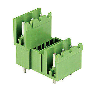 9 Position, PCB terminal block header 5mm pitch, 2 level, Vertical plug (50-PK)