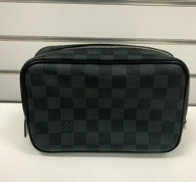 Louis Vuitton Damier Graphite Toiletry Cosmetic PM Bag