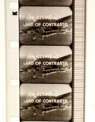 "16mm ""SWITZERLAND""  (THE SIMPLON PASS) 1954 B/W, RARE DOCUMENTARY."
