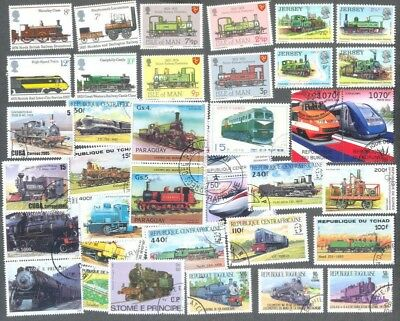 Railways-Trains 500 all different stamp collection