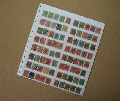 Double-Sided Stock Sheet of Old & Very Old GB Commonwealth Stamps