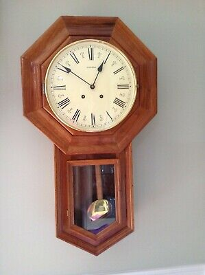 Emperor Schoolhouse Regulator 8 Day Wall Clock Key Wound Jauch