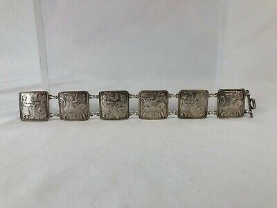 Vintage Norwegian Norway David-Andersen 925S Fairy Tale Link Bracelet Estate