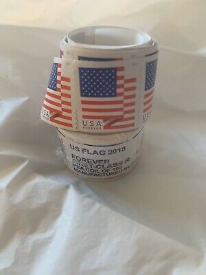 100 Stamps - USPS Forever Flag Stamps 1st Class -  1 Coil of 100