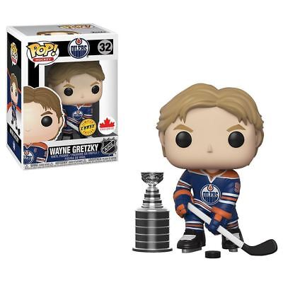 WAYNE GRETZKY FUNKO POP! CHASE with STANLEY CUP Exclusive #32 Edmonton Oilers NM