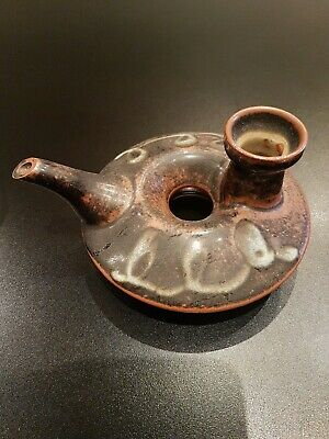 Oriental Pottery Oil Lamp